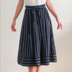 NWT Banana Republic Striped Summer Midi Skirt